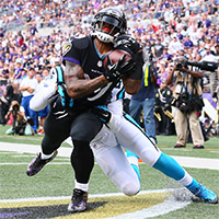 Steve Smith Has Huge Game in Ravens' 38-10 Win Over Panthers